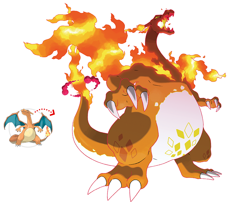 Dracaufeu Gigamax Pokémon épée Et Pokémon Bouclier