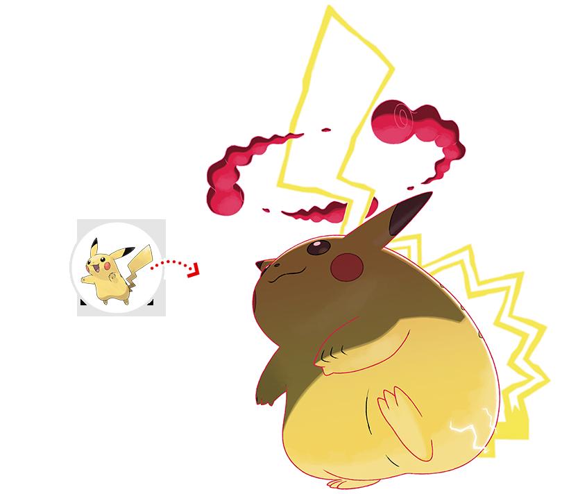 Resultado de imagen de Pikachu gigamax